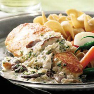 Chicken Breasts with Mushroom Cream Sauce