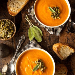 Pumpkin and Red Lentil Soup